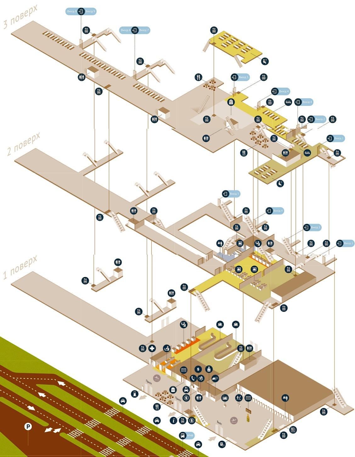 Схема аеропорту «Львів»