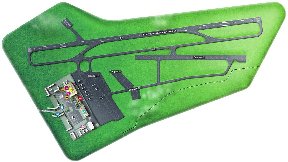 Схема аэропорта«Харьков»
