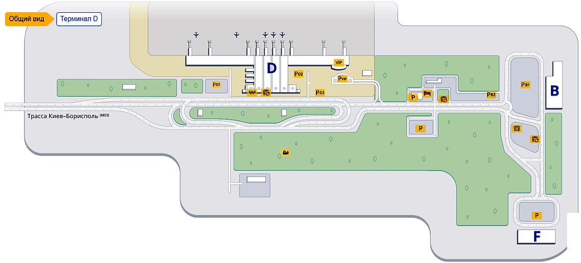 Схема аеропорту Бориспіль